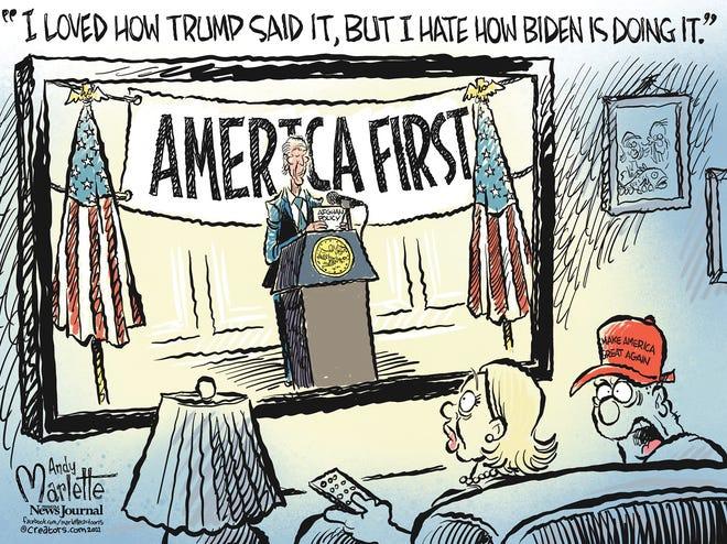 """Marlette cartoon: Biden enacts """"America First"""""""
