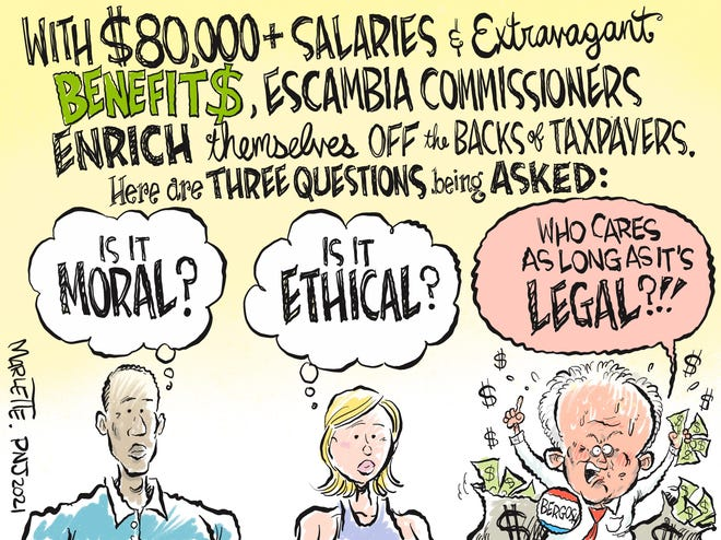 Marlette cartoon: Questions for Escambia commissioners