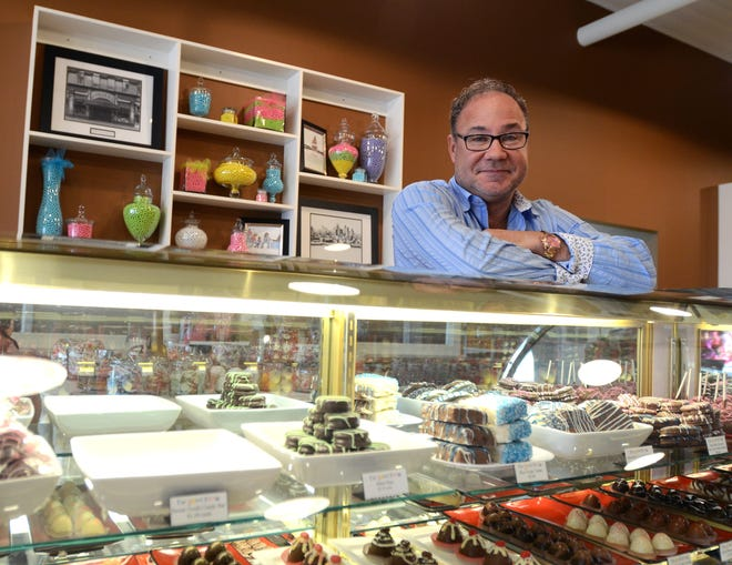 Owner Todd May talks about The Sweet Tooth of Marine City in this Times Herald file photo.