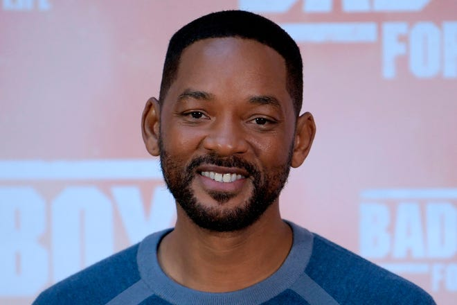 """U.S. actor Will Smith poses at the """"Bad Boys For Life"""" launching photocall in Madrid, Spain, on Jan. 8, 2020. (Gabriel Bouys/AFP via Getty Images/TNS)"""