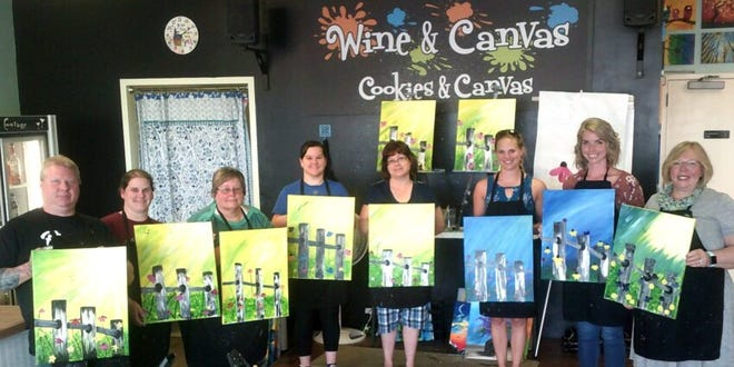 Wine and Canvas is located at 1412 W. 41st St.