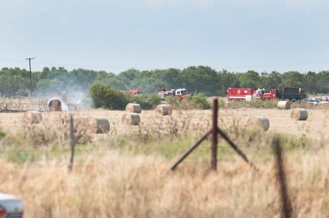 Wichita County firefighters battled a grassfire near Kamay Wednesday.