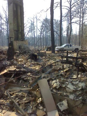 Alice Traugott's home in the Circle D-KC Estates neighborhood near Bastrop burned during the 2011 Bastrop County Complex Fire.