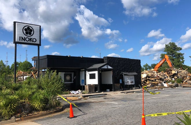 The former Inoko building on Alps Road was almost entirely demolished as of Sept.1.