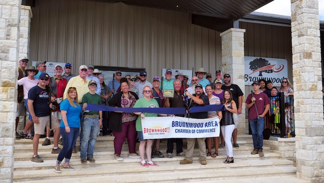 The Brownwood Area Chamber of Commerce recently held a ribbon cutting for the Brownwood Claybird Club, a a sporting clays retreat located next to the Brownwood Country Club. The facility offers sporting clays, five stand, and more. It features 12 stations professionally designed by Adam Blair and are positioned to challenge the best shooters, while nurturing newer shooters. The Five Stand features a double decker shooting platform and challenging targets. Brownwood Claybird Club offers great scenic views, a Pro Shop and a Clubhouse.  For more information call (325) 641-0102.