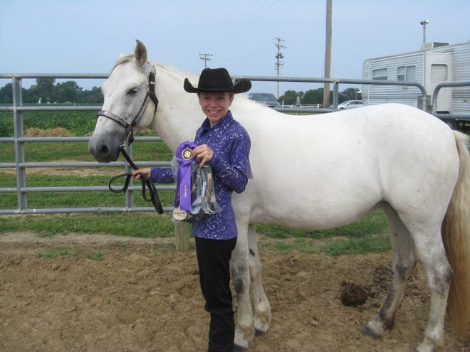 Autumn Corbett is pictured with Twister.