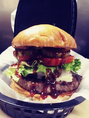 Western burger at Birch Tavern