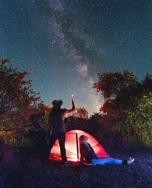 The Dark Sky Preserve is located in The Lake Hudson State Recreation Area.