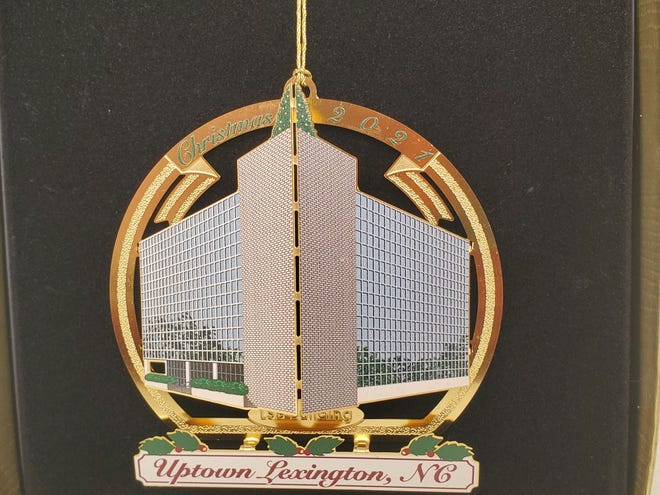 The 2021 Uptown Lexington Inc. Christmas ornament will feature an image of the former Lexington State Bank building that is being demolished to make way for a new, modern First National Bank branch.