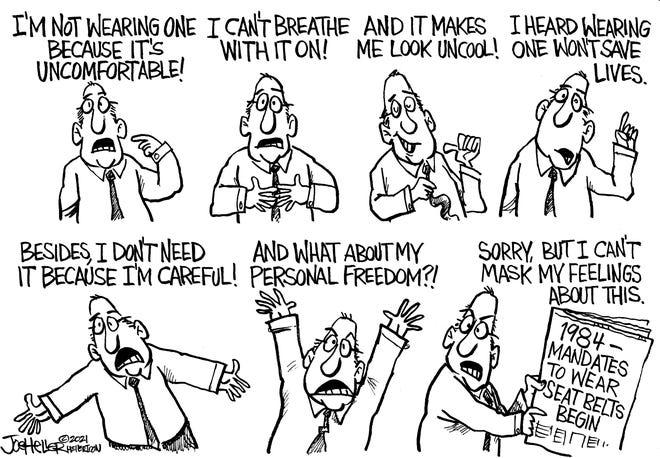 Joe Heller editorial cartoon Sept. 3, 2021