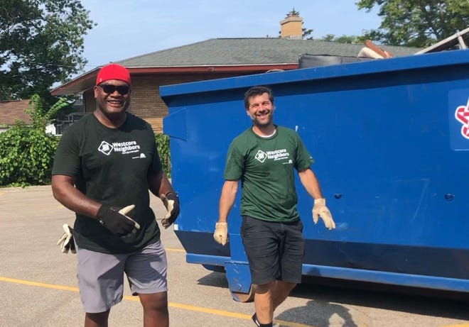 Neighbors came together for the Westcore Neighbors Cleanup Day and also were offered materials on resources available from the city, Holland Board of Public Works, and others.