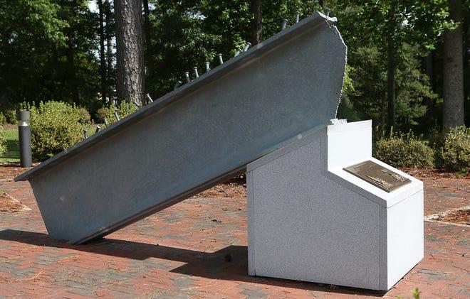 The 9/11 Memorial Beam located at the Lejeune Memorial Gardens in Jacksonville was dedicated in 2003.