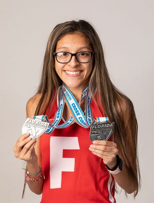 Lake Wales senior Crystal Gomez, whose third-place finish was her best finish ever in the prestigious Jim Ryun Invitational, pulled away and is The Ledger's Tremendous 10 Athlete of the Week. Gomez finished with 43 percent of the vote. As the week progressed, she and Winter Haven volleyball player Carissa Michael were in a back-and-forth battle before Gomez prevailed. Michel finished 32 percent of the vote. Auburndale quarterback Zach Tanner had a late surge and finished third, two percentage points above Bartow volleyball player Anna Morton. Lakeland quarterback Mason Martin finished fifth.