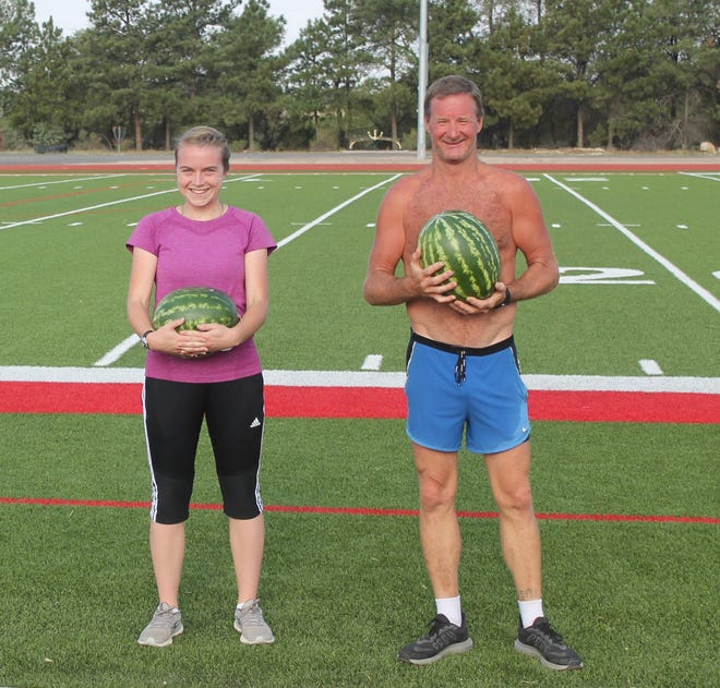 The 10K winners of the Arkansas Valley Fair 10K race are Constance Parker  and Damon Nichols.
