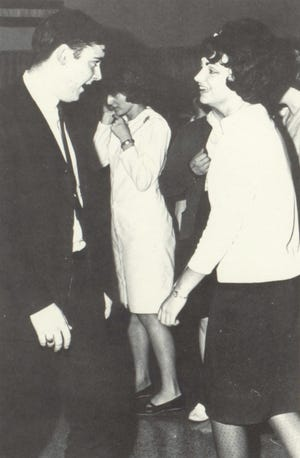 """Pictures of the Past is from the 1965 Lincoln Community High School yearbook. The photo shows Dean Ray and Jan Johnston doing the """"jerk"""" at a dance sponsored by the Future Teacher Association."""