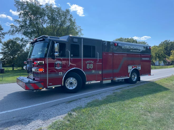 The Frenchtown Charter Township Fire Department assisted on the scene of a crash involving a school bus and a car.