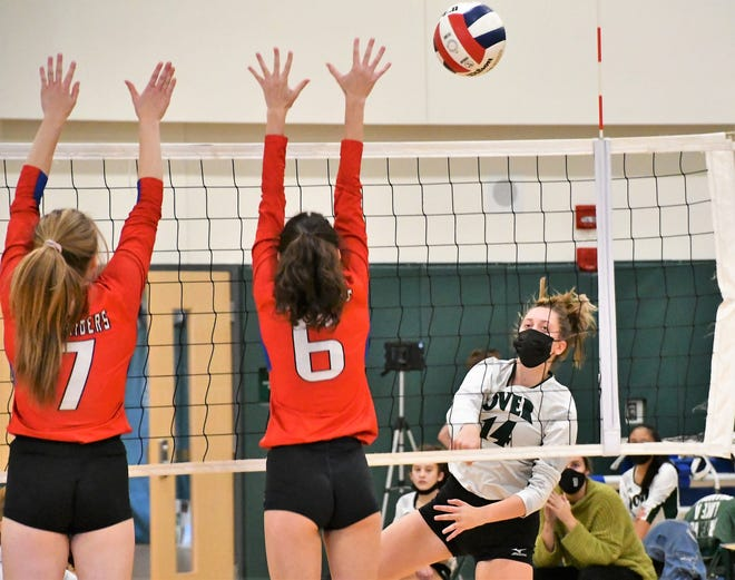 Dover junior Sam Winters, right, is poised to have a breakout season for the Green Wave in Division I this fall.