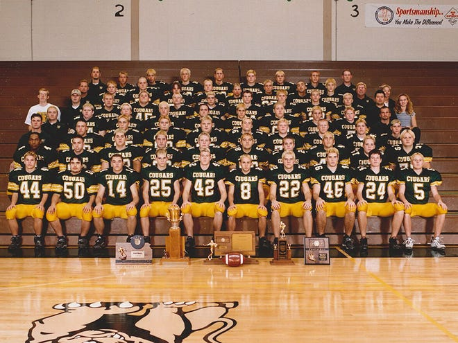 Salina South's 2000 state championship football team will be honored during the Cougars' season opener against McPherson on Friday at Salina Stadium.