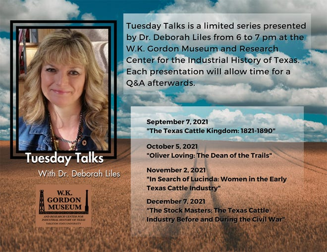 """The W.K. Gordon Center's """"Tuesday Talks"""" withDr. Deborah Lilesbegin Sept. 7 andwill continue the first Tuesday of each month, 6-7 p.m., throughout the fall semester."""