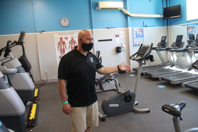 Siskiyou Family YMCA Executive Director Scott Eastman gives a tour of the YMCA back in June of 2020.
