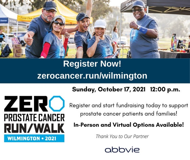 ZERO Prostate Cancer Run/Walk event will be held Sunday, Oct. 17, at Greenfield Lake.