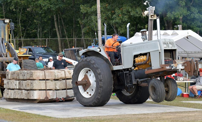 The tractor pull event at the Spencer Fair in 2019.