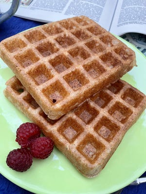 These whole-wheat waffles are light and toasty, ready for your favorite toppings.