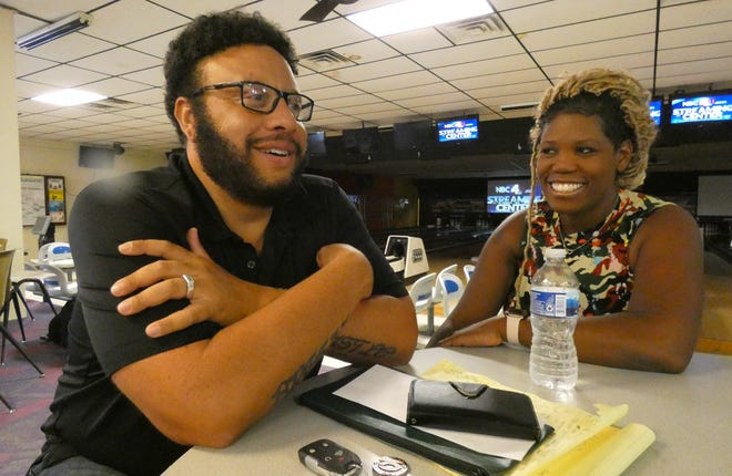 Shawn and Tacsha Ridgeway talk about their plans for SuBourbon Street Shack House inside Suburban Lanes, one of several local businesses they own.