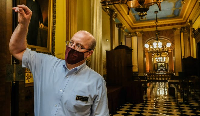 Capitol tour guide director Matt VanAcker has worked at the Capitol for nearly 30 years. Photo: Sept. 2, 2021.