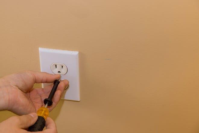 Replacing switch plates with more decorative ones is a super quick and inexpensive fix to give a room a new feel.