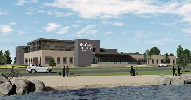 Rendering of the new BayCare Clinic Lakeside Campus in Manitowoc.