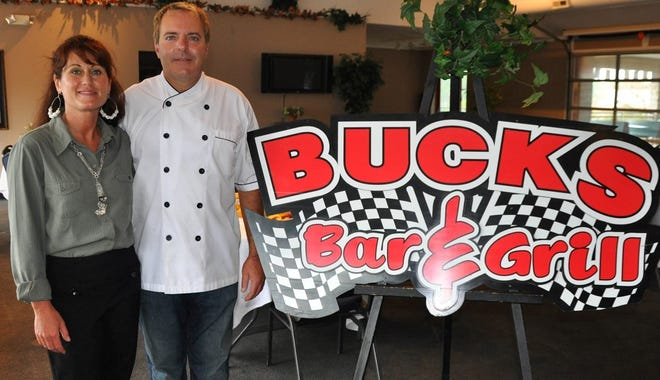Lisa and Marc Sleeckx, the owner of Bucks Bar & Grill in Lexington