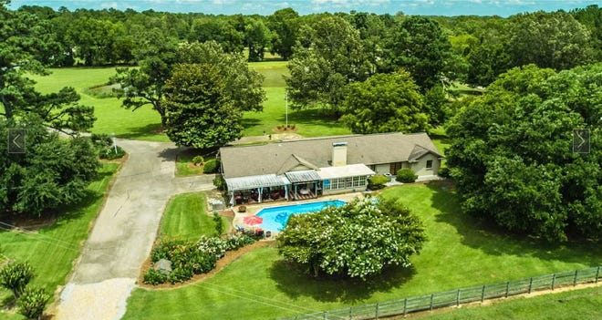 A three-bedroom, two bath home and 40 acres of trees and pasture in Pike Road are for sale for $1.3 million. The home contains 2,260 square feet of living space. The property, known as Cripple Creek Farm, is located just north of the Bon Terre development off Pike Road.