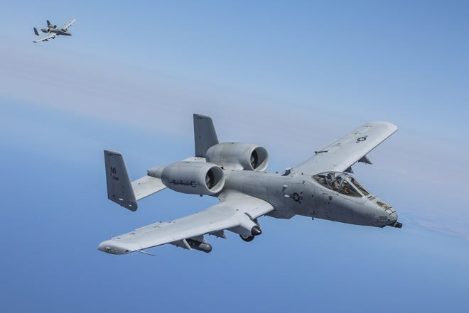 Two A-10 Thunderbolt II Air Force planes, like the ones shown here, flew over the South Lyon and Milford area on Aug. 30, 2021, at an altitude between 500-1,500 feet, startling some residents.