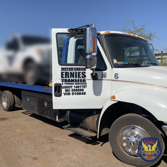Evanni Corona, 31, was found suffering from a gunshot wound inside this tow truck on Sept. 1.
