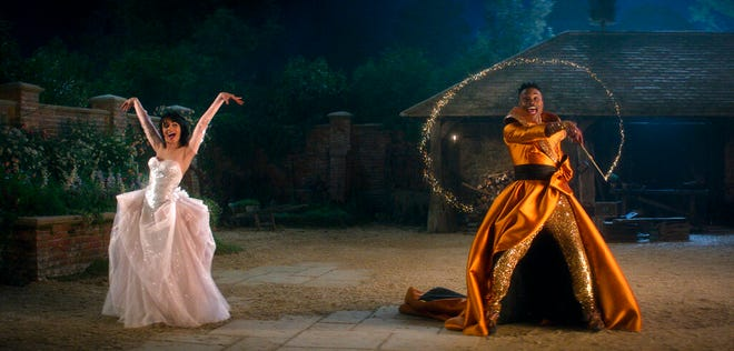 """Camila Cabello, left, and Billy Porter star in """"Cinderella."""" The movie is available for streaming starting Friday on Amazon Prime."""