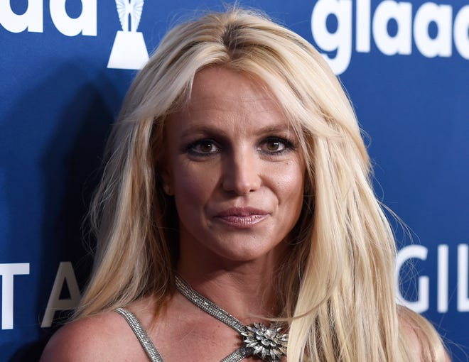 FILE - Britney Spears arrives at the 29th annual GLAAD Media Awards in April 2018 in Beverly Hills, Calif. (Photo by Chris Pizzello/Invision/AP, File)