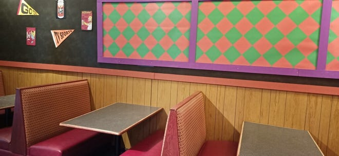 A replica of Moe's Tavern.