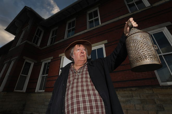 Gary Felumlee helped the City of Zanesville develop ghost tours around downtown. The tours kick off later this month. One of the stops include the old railroad station in Zane Landing Park.