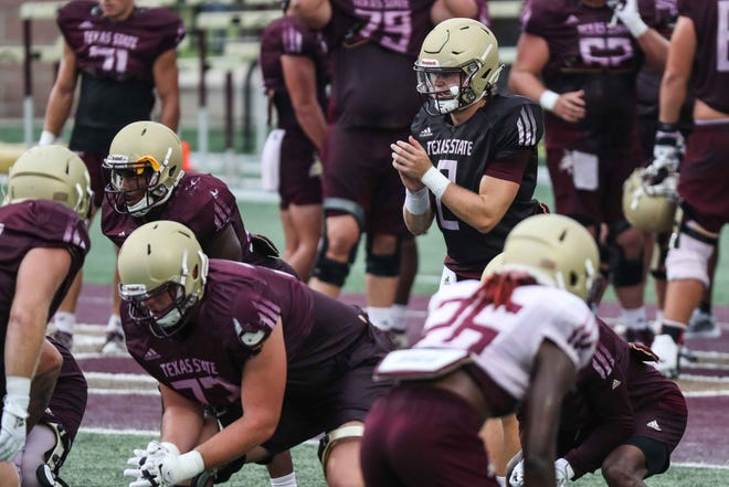 Texas State quarterback Brady McBride enters his second season as the Bobcats' starter. The former Memphis transfer had to beat out Tyler Vitt for the job this offseason.