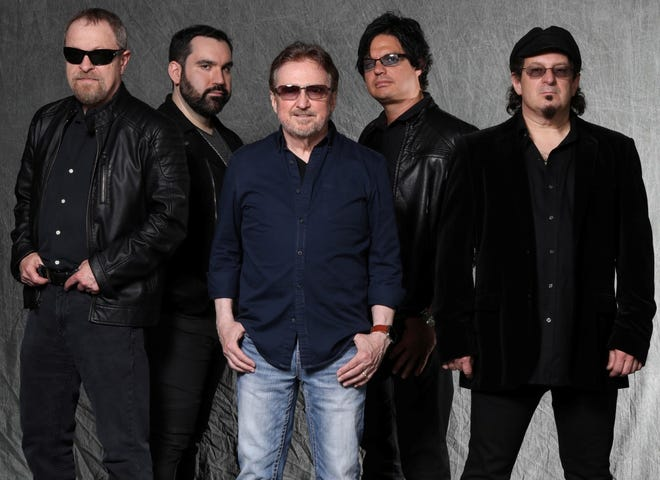 Blue Oyster Cult features Eric Bloom, Richie Castellano, Buck Dharma, Jules Radino and Danny Miranda.