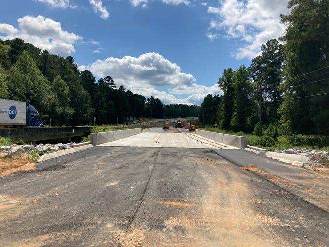 Deans Bridge Road traffic will shift to a new bridge Tuesday.