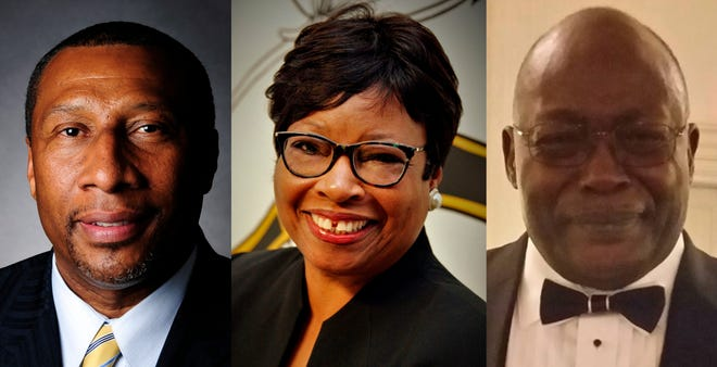 From left, Alvin Mason, Betty Reece and L.C. Myles are in the running to be the temporary replacement for District 4 Commissioner Sammie Sias until Sias' case is disposed. The commission is expected to choose a candidate Tuesday.
