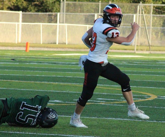 Senior quarterback Henry Stempky (13) and the Cheboygan football team took down Alpena 28-18 on the road on Thursday, Sept. 2. Cheboygan is now 2-2 on the season.