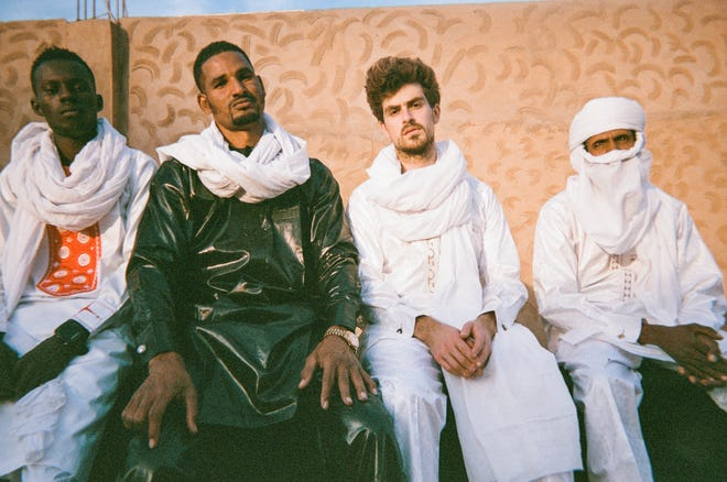 Mdou Moctar, second from left, and his band.