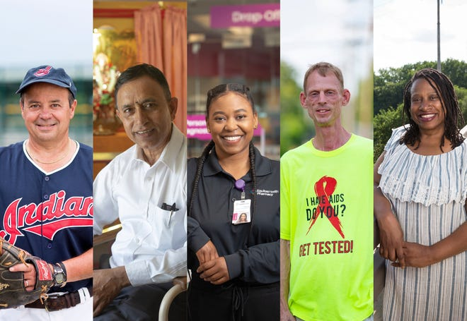 Our 2021 Everyday Heroes finalists (from left): Mark Sigrist, Ram Upreti, Olivia Nathan, Dave Baker and Debra McCauley