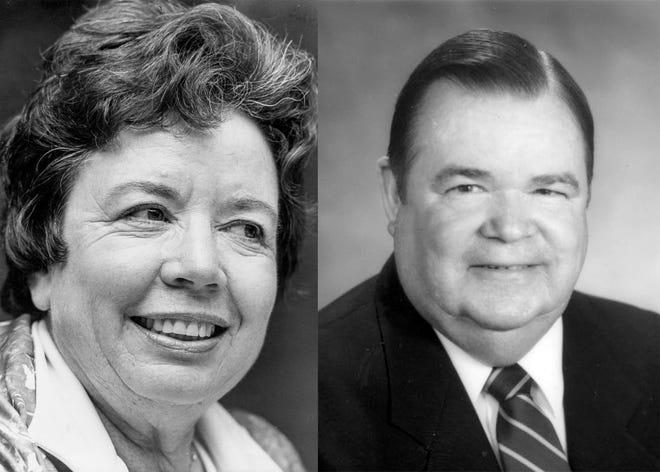 Mary Jo Stansfield, left; T. Wayne Bailey, right.