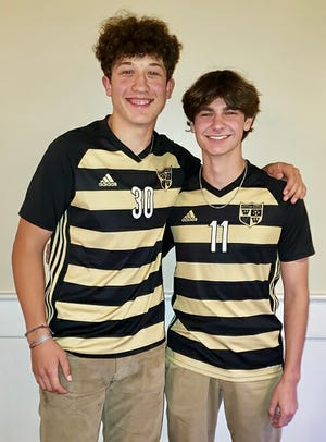 This dynamic duo will lead the charge for Western Wayne's boys varsity soccer squad this fall. Seniors Ryan Vinton (left) and Ashton Fitzsimmons (right) are serving as co-captains for the 2021 Lackawanna League season.
