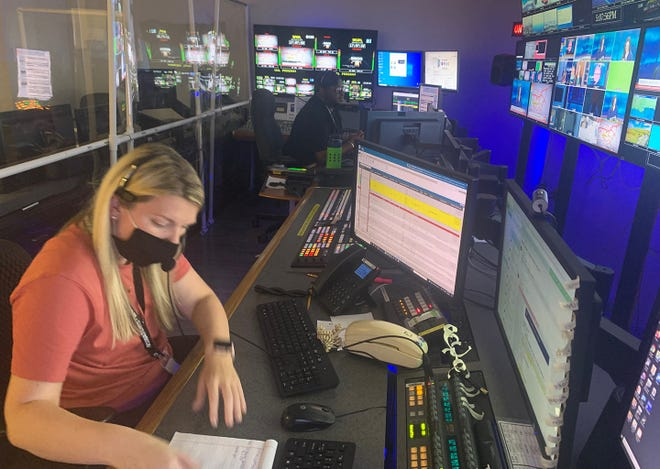 While chaos swirled around outside the station in New Orleans, Michelle Nutting and her co-workers stayed focused on the job at hand providing non-stop coverage of Hurricane Ida.:
