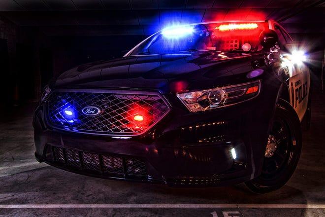 Bloomington Police Department cruiser.